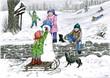 Leinwanddruck Bild der winter