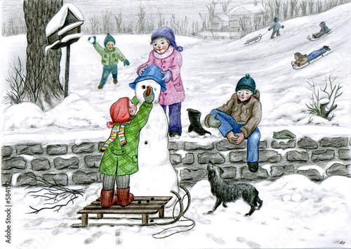 Leinwandbild Motiv der winter