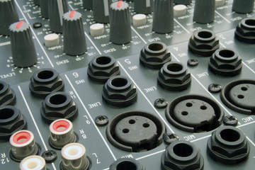 audio mixing desk