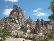 rock dwellings. cappadocia, turkey
