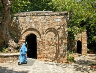 house of the virgin mary (meryemana), ephesus, tur
