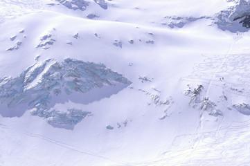 ski & snowbord sur les séracs de la meije