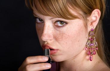 lippenstift auftragen