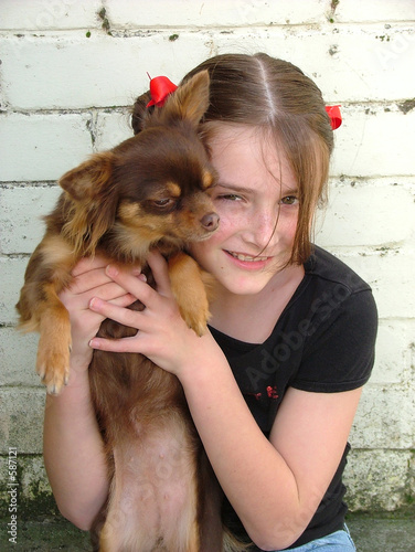 poster of girl and dog