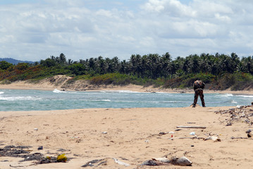 militaires sur la plage