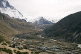 dingboche and island peak, nepal poster