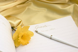 guest book with daffodil poster