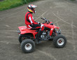 man on atv