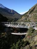 suspension bridge - nepal poster