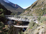 suspension bridge - nepal poster