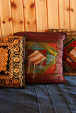 small pillows, oriental style poster