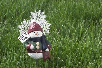 spring snow man figure