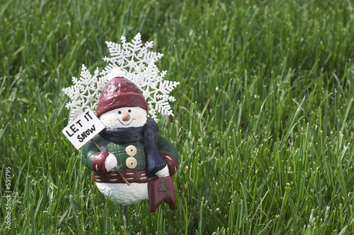 spring snow man figure