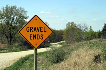 gravel ends sign 1