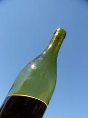 bouteille au soleil