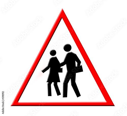 piéton danger école rique panneau signalisation