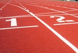 athletic surface markings - one and two poster