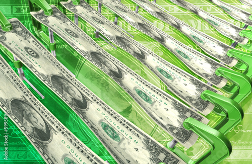 dollar stretching background 3d
