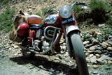 moto prête pour le grand voyage poster