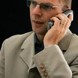 business au téléphone poster
