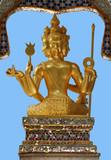 golden statue in hong kong poster
