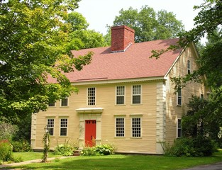 vintage new england colonial.