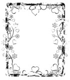 grunge valentine frame (border) poster