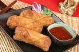 Fototapety crispy chinese egg rolls