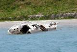 hurricane damaged sailboat poster