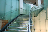 glass stairs poster