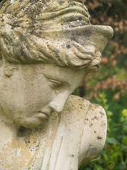 female classical garden statue