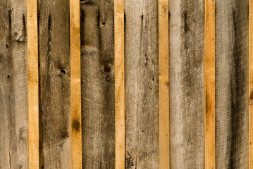 close-up of rough wood siding (h)