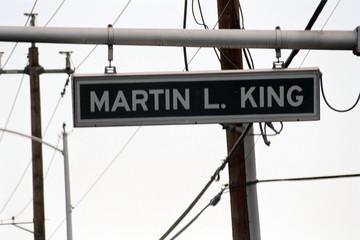 streetsign: martin l king