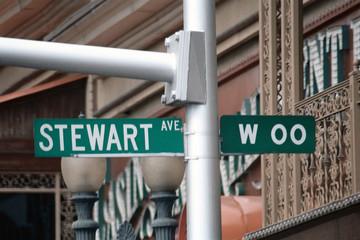 streetsign: stewart avenue