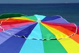 beach umbrella top poster