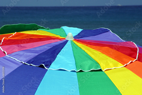 poster of beach umbrella top