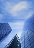 corporate buildings - sky is the limit poster