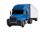 blue semi with trailer poster