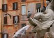 pigeons et fontaine à rome