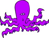 purple octopus poster
