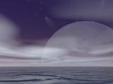 surreal moonrise poster