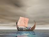 vikings at sea poster
