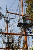 sailing ship mast poster