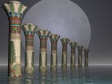 egyptian pillars poster