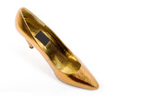gold shoe poster