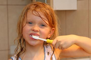 brushing my teeth