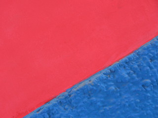 pink wall, blue corner