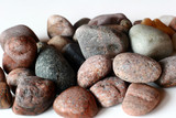 ocean stones on isolated background poster