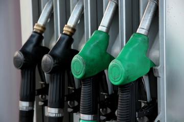 black & green distributor nozzle