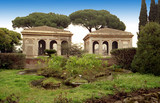 palatine palace ruins, rome, italy poster